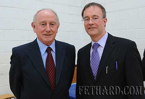 Guest Speaker Bro Cormac Commins, Education Officer for the Patrician Secondary Schools, photographed with school principal Mr Ernan Britton (right).Sch