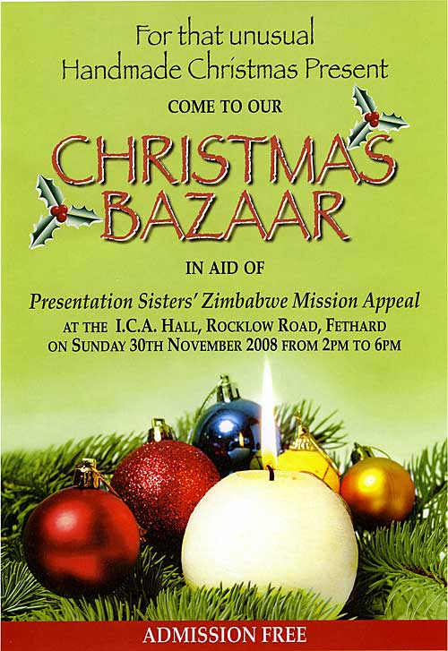 Christmas Bazaar in aid of Missions