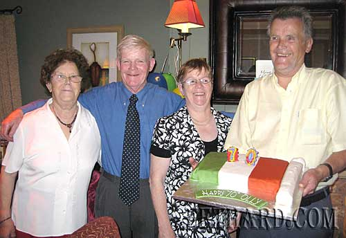 Ollie Fitzgerald, formerly from St. Patrick's Place, Fethard, is photographed above with his brother and sisters on the occasion of his recent 70th Birthday celebration