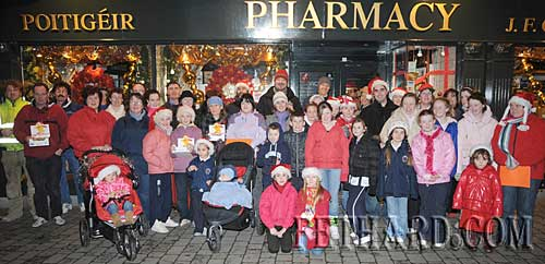 Children and adults photographed Carol Singing on the streets of Fethard on Thursday night last in aid of the CRC Santa Bear Appeal.
