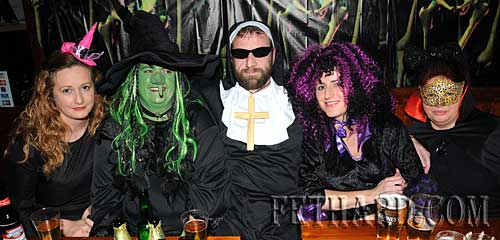 Photographed at the Halloween Party at Lonergan's Bar are L to R: Aisling Carroll, Debbie Carroll, Peter Shaw, Susan Carroll and Ellen Carroll.