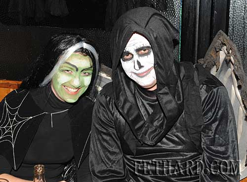 Photographed at the Halloween Party at Lonergan's Bar are Helen Skehan and Jerome Skehan