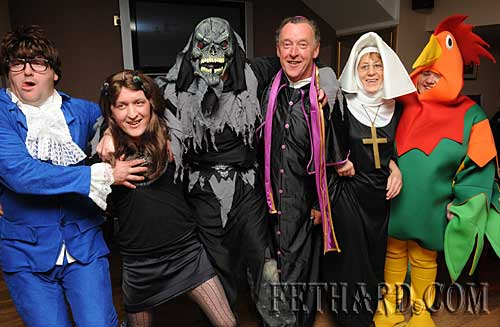 Photographed at the Halloween Party in Gaule's Pub, Burke Street, Fethard. L to R: John Hayden, Kieran Gaule, Ginger White, Sonny Gaule, Rita Gaule, Imelda Walsh.