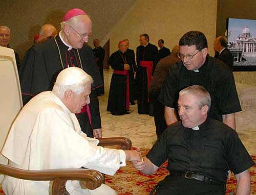 Fr. Michael Barry meets Pope