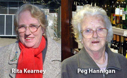Rita Kearney and Peg Hannigan