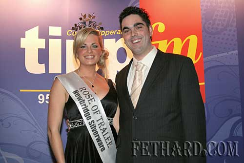 Ian O'Connor pictured at the Tipp FM Sports Awards with this years Rose Of Tralee Aoife Kelly