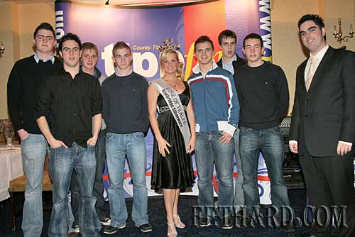 The 'Fethard Gang' pictured with the Rose of Tralee, Aoife Kelly