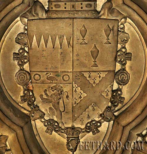 One of the heraldic coat of arms from Canices Cathedral in Kilkenny
