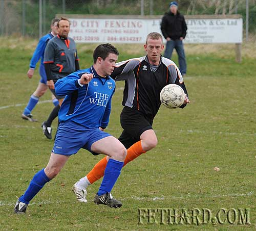 L to R: Shane Aylward (Killusty) and Patrick 'Blondie' Ivors (Ballingarry Albion)