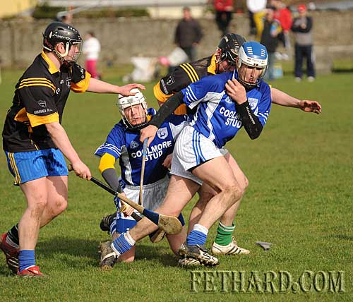 Fethard's Johnny O'Halloran breaking through with the ball