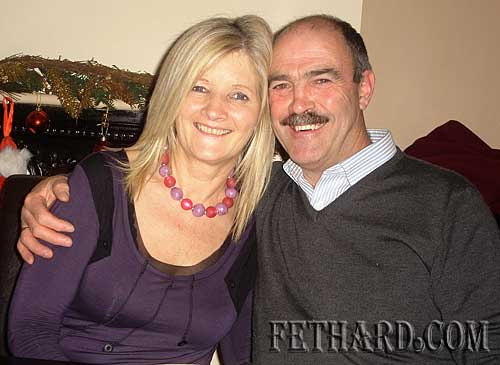 Geraldine and Michael McCarthy photographed at the Abbey Choir Christmas Party