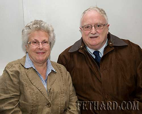 Anne and Paddy Lonergan photographed at Fr. John Meagher's celebration of 70 years of Priesthood