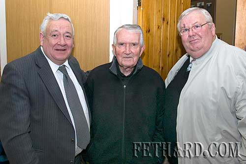 Photographed at the Augustinian Abbey party for helpers were L to R: Frank Coffey, Fr. John Meagher OSA and Gus Fitzgerald.