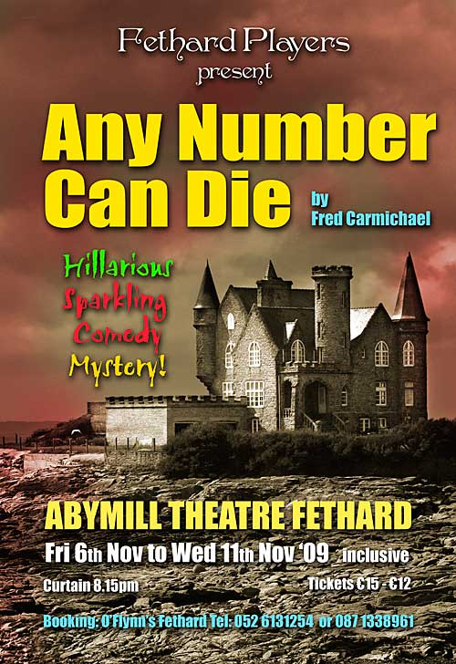 Any Number Can Die poster for Abymill Theatre