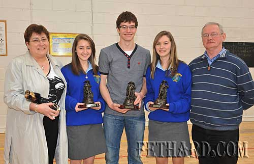 Dwyer family photographed at awards presentations. L to R: Ann, Deirdre, Darragh, Aisling and Eamon.