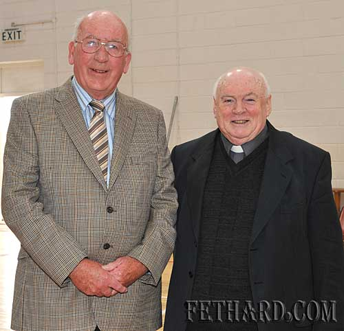 Photographed at awards day were L to R: Paddy Broderick and Fr. Martin Crean OSA.