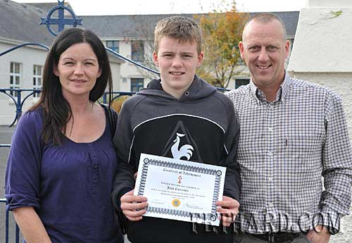 Jack Connolly who received a special achievement award for his success in boxing at national and international level is photographed here with his parents, William and Dorothy