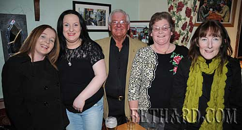 Photographed at the Benefit Night for 'Missing in Ireland Support Service' at The Castle Inn are L to R: Catherine Delicate, Pamela Daly, Pat McNamara, Ann Daly and Maura Ryan.