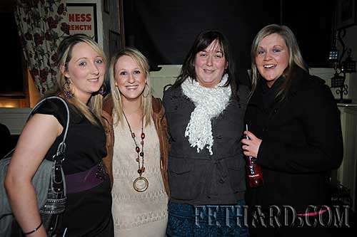 Photographed at the Benefit Night for 'Missing in Ireland Support Service' at The Castle Inn are L to R: Marie Taylor, Heather Whyte, Aisling Ahearne and Stephanie Fitzgerald.