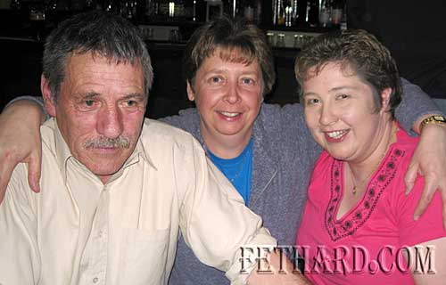 Photographed in Butlers Bar are L to R: Michael Shine, Denise O'Donnell and Deirdre Massey who was celebrating her 36th birthday on the night.
