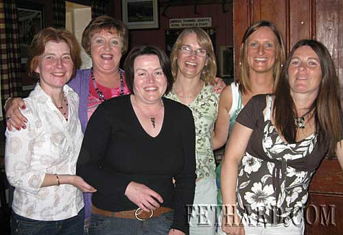 Birthday girl Helen Hogan and her friends photographed at the Pheasant Plucker's Gig at McCarthys L to R: Ellen Hogan, Philippa Hogan, Helen Hogan, Ann Morgan, Margaret Hogan and Noreen Hackett.