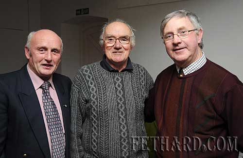 Photographed at the presentation of this year's Tipperariana Book of the Year in the Abymill, organised by Fethard Historical Society are L to R:  Bat O'Dea formerly from Mobarnane, Fethard, Tony Newport, Fethard, and Sean Gleeson, Loughmore.