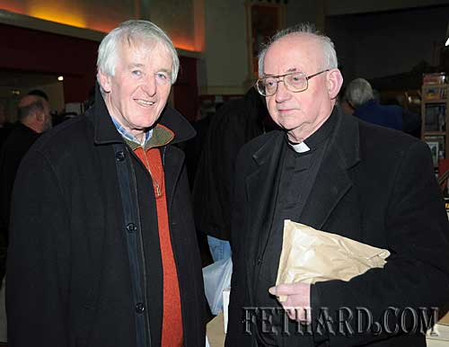Photographed at the Tipperariana Book Fair in Fethard are L to R: Dr. Willie Nolan and Monsignor Maurice Dooley.