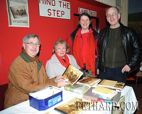 Photographed at the Tipperariana Book Fair in Fethard are L to R: Sean Gleeson, Eileen Ryan, Patricia Maher and Tom Cullagh selling  this year's Tipperariana Book of the Year, 'A Day to Remember— a photographic memoir of The Loughmore Pageant' published and compiled by Loughmore community