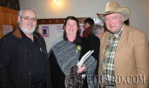Photographed at the Tipperariana Book Fair in Fethard are L to R: Miceál McCormack, Eileen Kennedy (Templetuohy) and Liam Burke (Clerihan)
