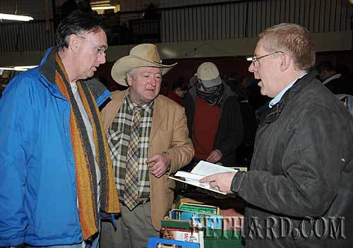Photographed at the Tipperariana Book Fair in Fethard are L to R: Eoin Powell, Liam Burke and John Cooney.