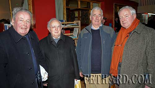 Photographed at the Tipperariana Book Fair in Fethard are L to R: Liam Hogan, Liam O Duibhir, Michael Ahern and Michael Coady.