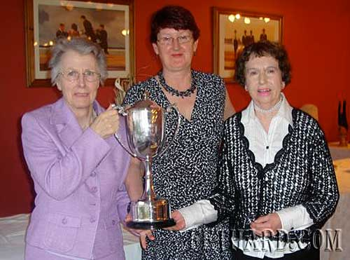 Club Champions 2009 L to R: Berney Myles, Gemma Burke (President) and Alice Quinn