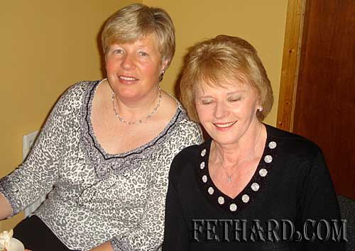 Photographed at Fethard Bridge Club Christmas Party are L to R: Ann O'Dea and Kay Walsh.