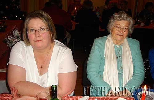 Photographed at Fethard Bridge Club Christmas Party are L to R: Betty Walsh and Brigid Gorey.