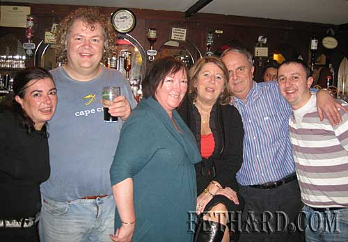 Photographed at the Loudest Whisper Gig at Butlers Bar are L to R: Susan Duggan, Peter Dobbyn, Ann Butler, Sally Hayes, Jimmy Hayes and M.J. Croke