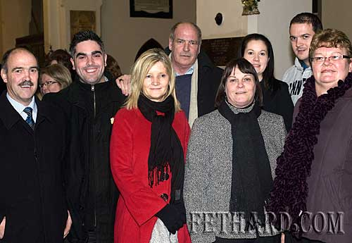 Photographed at the Annual Carol Service at Holy Trinity Church on Sunday 20th December are L to R: Michael McCarthy, Ian O'Connor, Geraldine McCarthy, Don McCarthy, Margaret O'Donnell, Orla Nagle, Conor McCarthy and Jocie Fitzgerald.