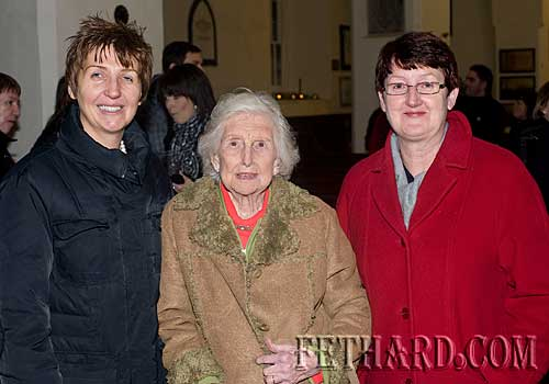 Photographed at the Annual Carol Service at Holy Trinity Church are L to R: Lynn Cummins, Suzanne Opray and Gemma Burke.