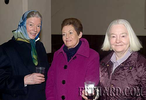Photographed at the Annual Carol Service at Holy Trinity Church are L to R: Judy Butler, Diana Stokes and Caroline Palmer.
