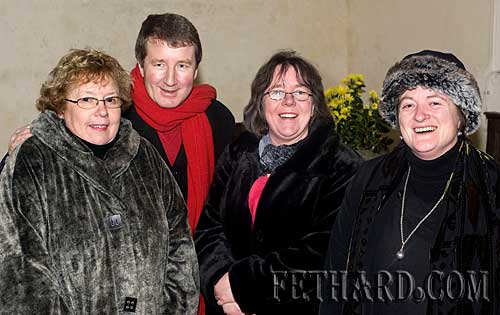 Photographed at the Annual Carol Service at Holy Trinity Church are  L to R: Margaret Newport, Michael Callan, Edwina Newport and Marie Moclair.