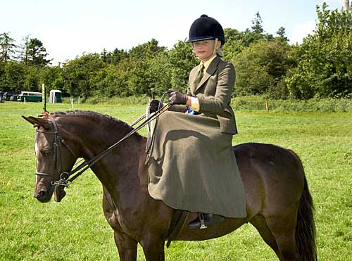 Charlotte Hatton on 'Charlie Fox' in the Side-Saddle Event at Killusty Show