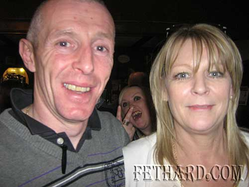 Ken Whelan (jockey) and Margaret Power at the Cheltenham Preview night at Butler's Sports Bar for charity.