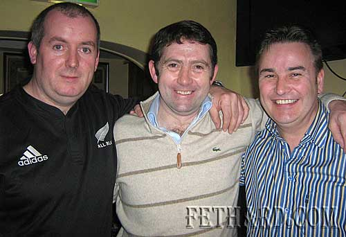 Photographed at the Cheltenham Preview night at Butler's Sports Bar for charity L to R: Francis Lonergan, Conor O'Dwyer and Michael Leahy.
