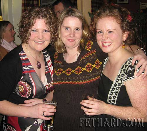 Socialising in Fethard over Christmas were L to R: Leanne Burke, Johanna Sheehan and Eleanor Ryan