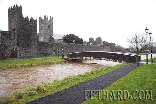 Fethard's river Clashawley in full flow after the recent heavy rain