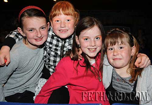 Photographed at the 'Clozure' boy band concert in the Abymill Theatre in aid of Fethard and District Day Care Centre are L to R: Amy Needham, Rebecca McGarry, Erica McGrath and Tara Reagan.