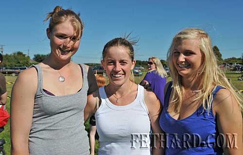 At Fethard Community Field Day were L to R: Sarah Neville, Evanna McCutcheon and Nicki Knowles