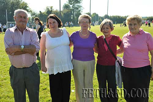 Photographed at Fethard Community Field Day are L to R: Tom Purcell, Elaine Purcell, Eileen Purcell, Breda Walsh and Joan O'Meara