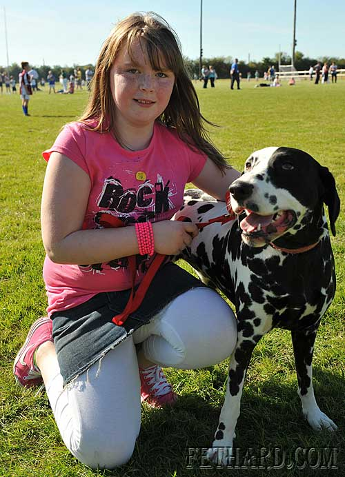 Chelsey Kenny and her dog 'Daisy' at the Fethard Community Field Day Dog Show