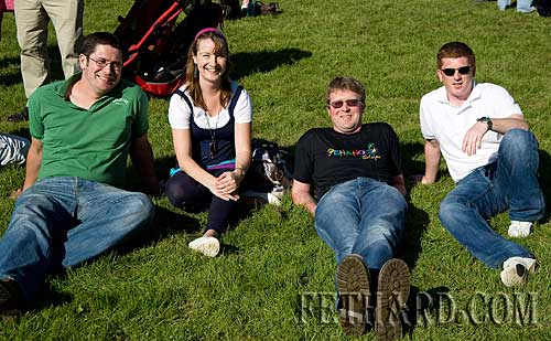 Enjoying the Community Field Day in Fethard are L to R: Jerome Skeehan, Helen Skehan, Kenneth Sheehan and Dathi Maher