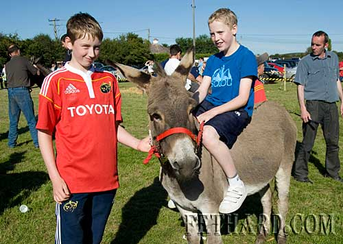 L to R: James Harrington and Andrew Phelan who was a winner at the Donkey Derby